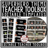 Teacher Toolbox Labels EDITABLE- Back to School Superhero Classroom Theme