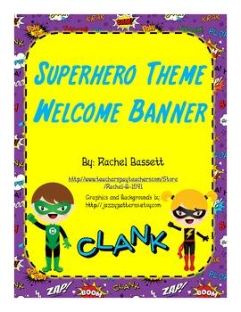Superhero Theme Welcome Banner