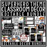Superhero Classroom Decor: Growth Mindset Posters, Newsletter Template Editable