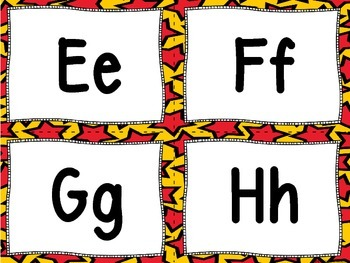 Superhero Theme Word Wall Letters and 100 Fry Words (red and gold background)
