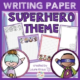 Superhero Theme Writing Paper