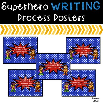 Writing Process Posters-Superhero Theme