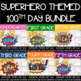 Superhero Themed 100th Day Whole-School License Bundle