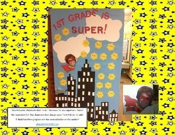 Back to School Activities~Superhero Printable Math, Reading, & Writing