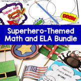 Superhero Theme Unit Math, Reading, & Writing Activities