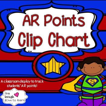 Superhero Themed AR Points Clip Chart