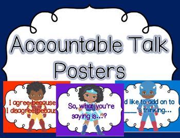 Superhero Themed Accountable Talk Posters