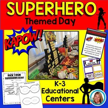 Superhero Themed Activities - Superhero Themed Day -  Centers