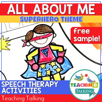 All About Me - a Superhero Themed Activity - Beginning of the Year