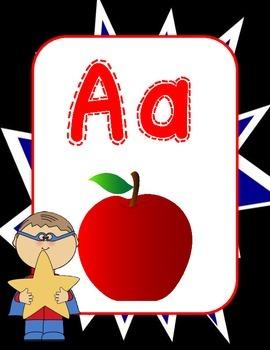 Superhero Themed Alphabet