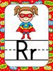 Superhero Themed Alphabet Posters