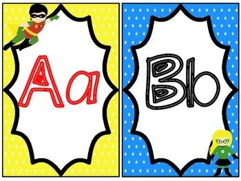 Alphabet and Number Line: Superhero Themed