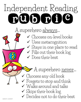 Superhero Themed Anchor Charts for Centers - Exit Tickets & Independent Reading