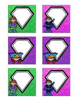 Superhero-Themed April Calendar Cards