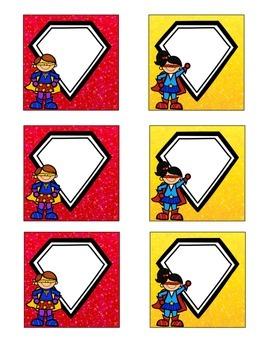 Superhero-Themed August/ September Calendar Cards