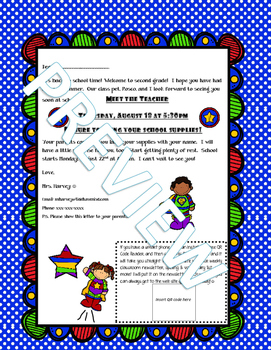Superhero Themed Back to School Letter