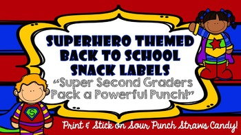 Superhero Themed Back to School Snack Labels
