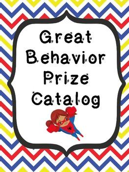 Superhero Themed Behavior Catalog