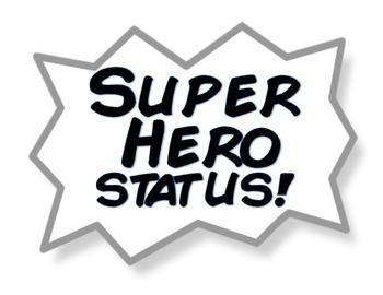 Superhero Themed Behavior Chart