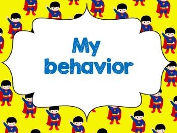 Superhero Themed Behavior Chart in English and in Spanish