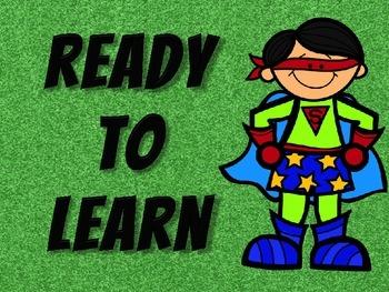 Superhero Themed Behavior Clip Chart!