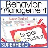Behavior Chart- Superhero Theme