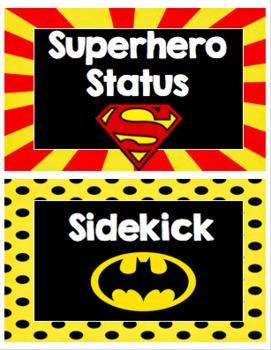 Superhero Themed Behavior Clip Chart