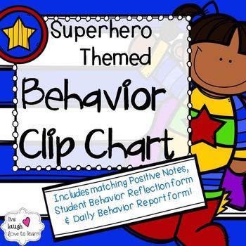 Superhero Themed Behavior Clip Chart & More