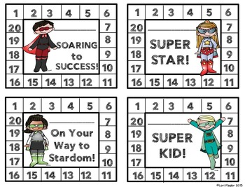 Superhero Themed Behavior Punch Cards, Rewards, & Awards