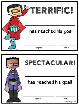 Superhero Themed Behavior Punch Cards, Rewards, & Awards