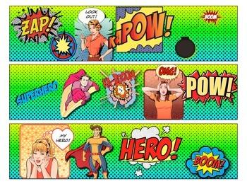 Superhero Themed Borders - Comic Book Style