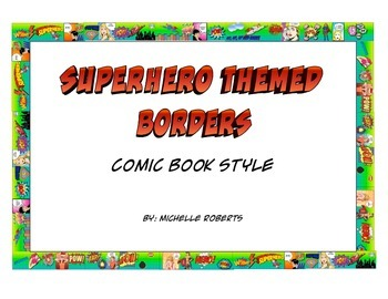 Superhero Themed Borders - Comic Book Style