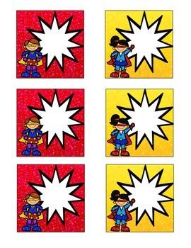 Superhero-Themed Calendar Card Bundle