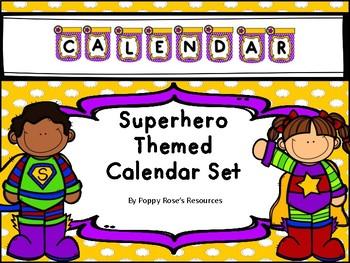 Superhero Themed Calendar Set