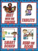 Superhero  Themed Center Signs and Center Management Chart Cards