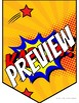 "Superhero Themed Classroom Banner 10"" X 7"""