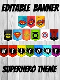 "Superhero Themed Classroom Banner 10"" X 7"""
