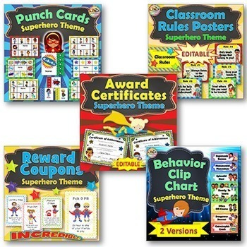 Superhero Themed Classroom Behavior Management BUNDLE