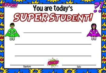 Superhero Themed Classroom Celebration Certificates (EDITABLE) - NZ