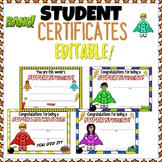 Superhero Themed Classroom Celebration Certificates EDITABLE NZ