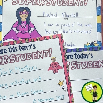 Superhero Themed Classroom Celebration Certificates (EDITABLE) - USA