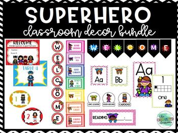 Superhero Themed Classroom Decor Bundle