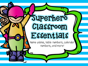 Superhero Themed Classroom Essentials