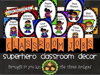 Superhero Themed Classroom Job Set