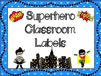 Classroom Labels: Superhero Themed