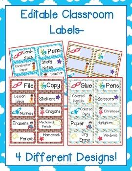Superhero Themed Classroom Labels