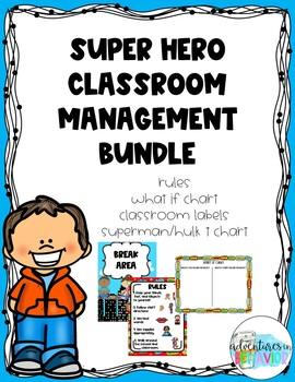 Superhero Themed Classroom Management Bundle