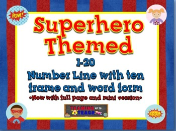 Superhero Themed Classroom Number Line