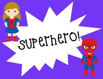 Superhero Themed Clip Chart