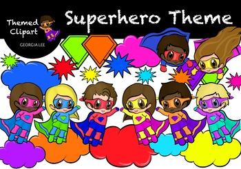 Superhero Themed Clipart